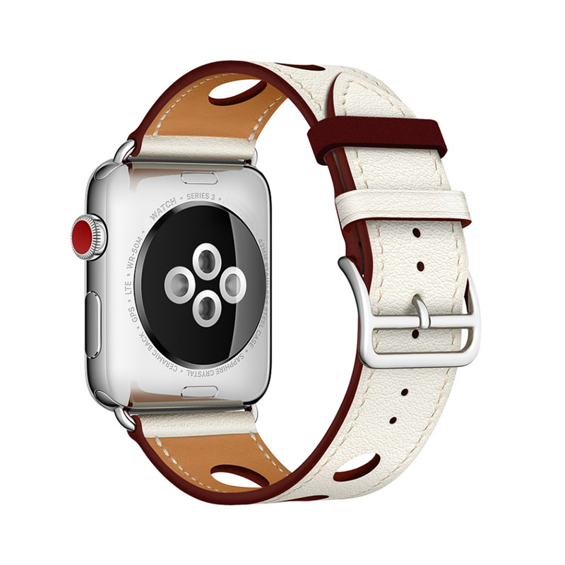 apple series 1 2 3 Leather Strap (5)