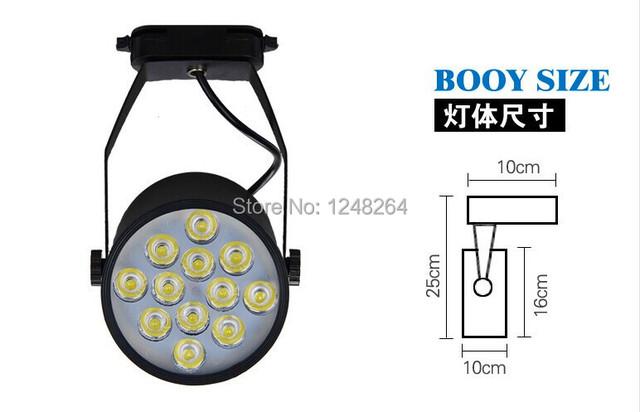 12 W LED faixa luz / LED Spotlight / refletor LED com integrante regulável 85 V - 265 V 1200LM