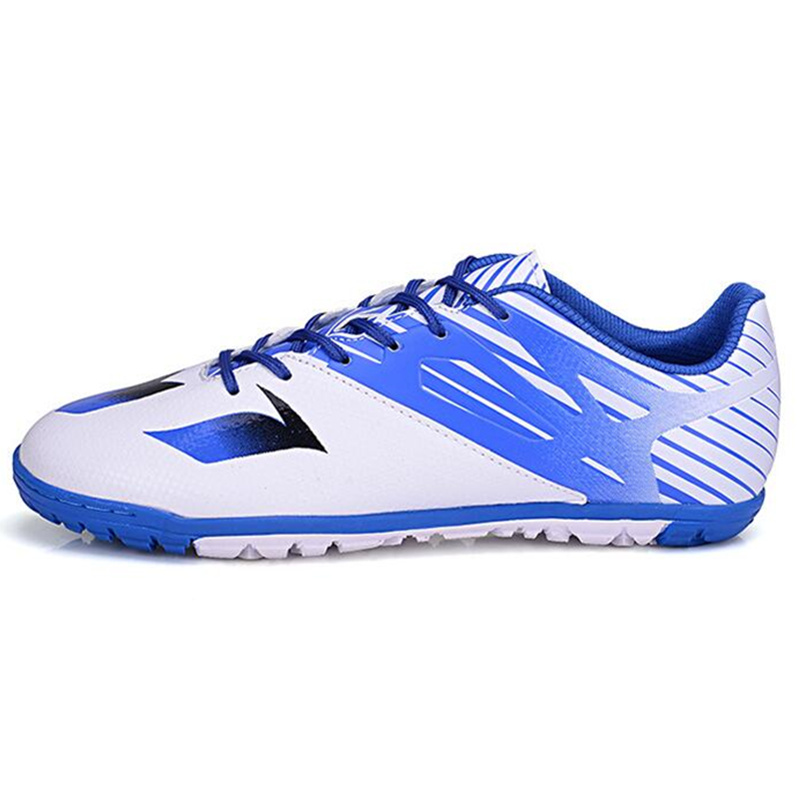 MAULTBY Men s White Blue TF Turf Sole Outdoor Cleats font b Football b font Boots