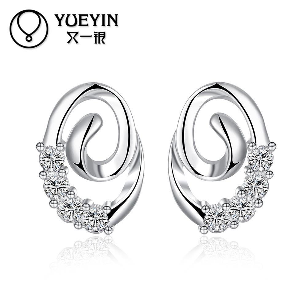 New Fashion Jewelry Silver plated earrings Trendy jewelry ...
