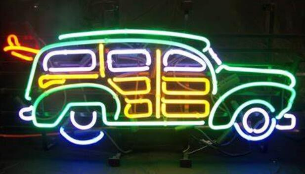 Custom Corvette Car Glass Neon Light Beer Bar 3