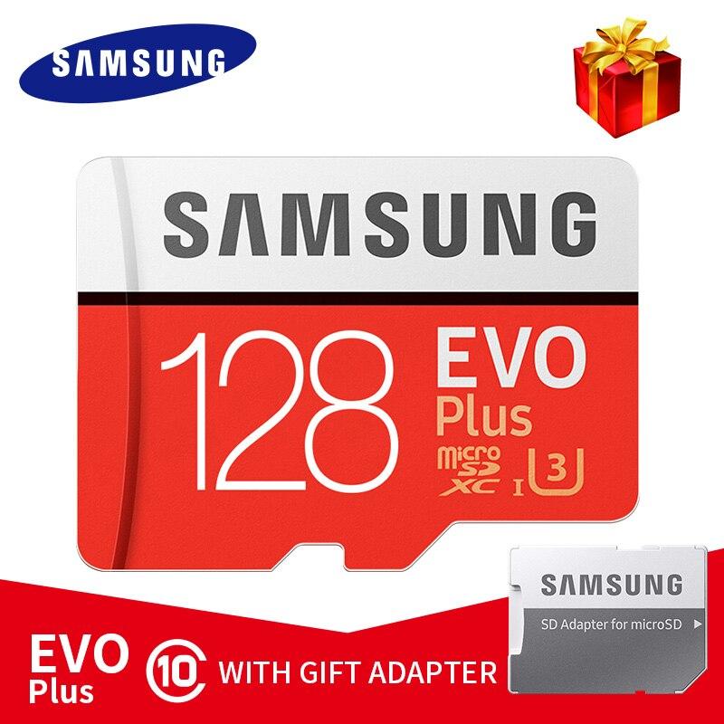 Original SAMSUNG Micro SD Card 16GB 32GB 64GB 128GB 256GB EVO Plus MicroSD Memory Card C10