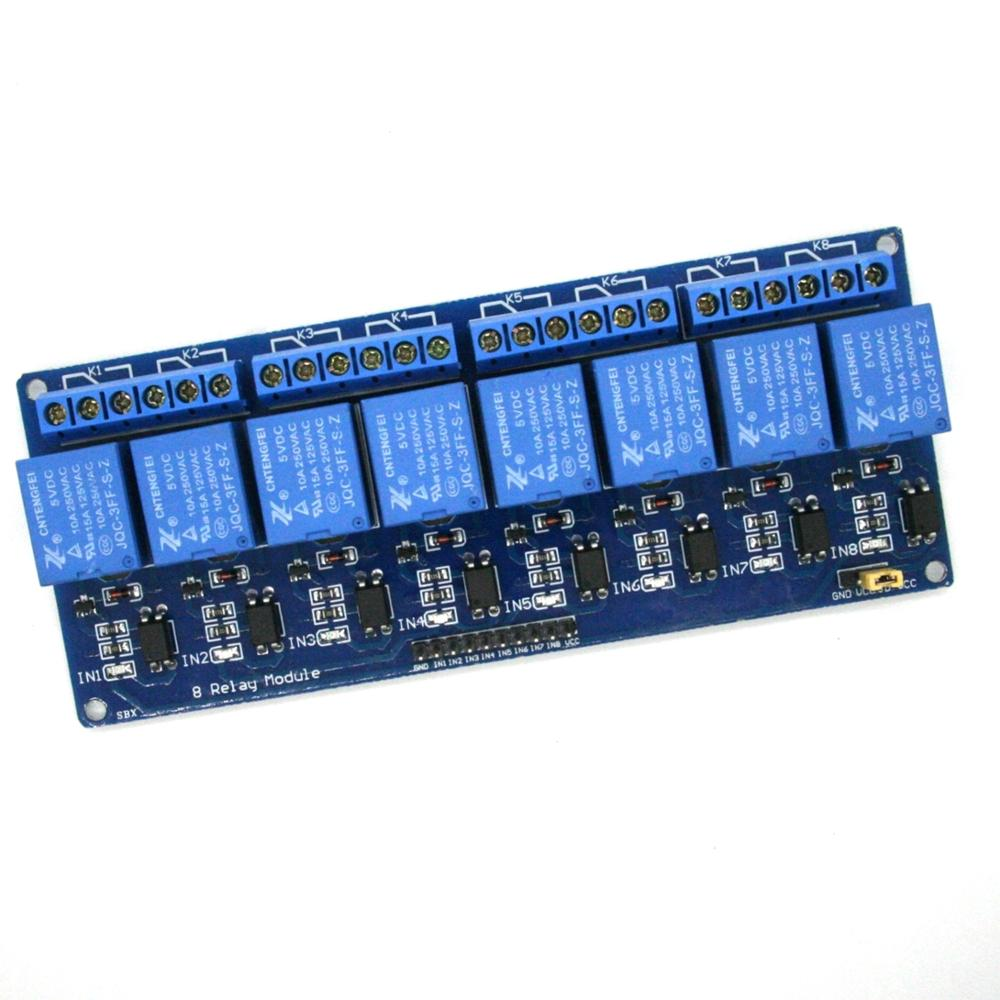 1PCS 5V 8 Channel Relay Module Board PIC AVR MCU DSP ARM Electronic 100% new original ...