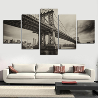 High Definition Printed Black And White Viaduct Canvas Painting Picture Office Living Room Home Decoration Art