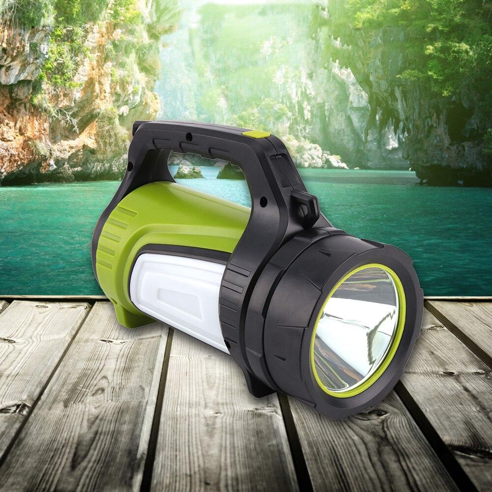 BORUIT Portable Search Light Powerful LED Flashlight 18650 Lanterna USB Rechargeable Camping Tent Lamp Hunting Fishing Hiking