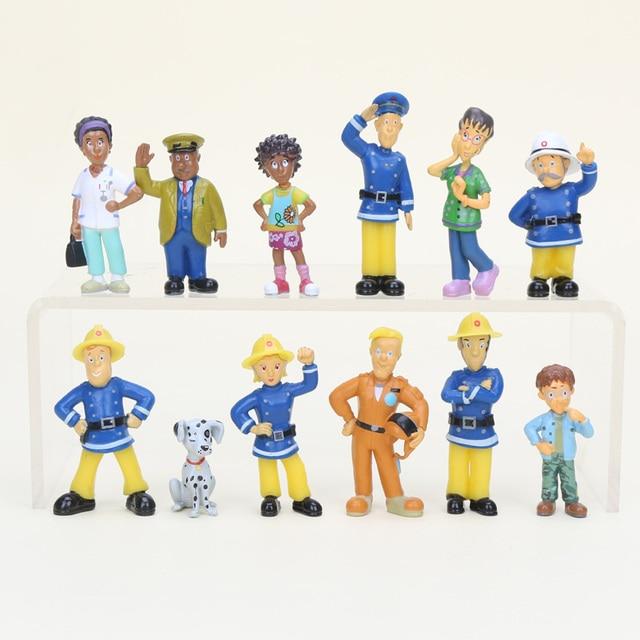 Cartoon Characters Named Sam : Pcs set fireman sam figure fire station officer dilys