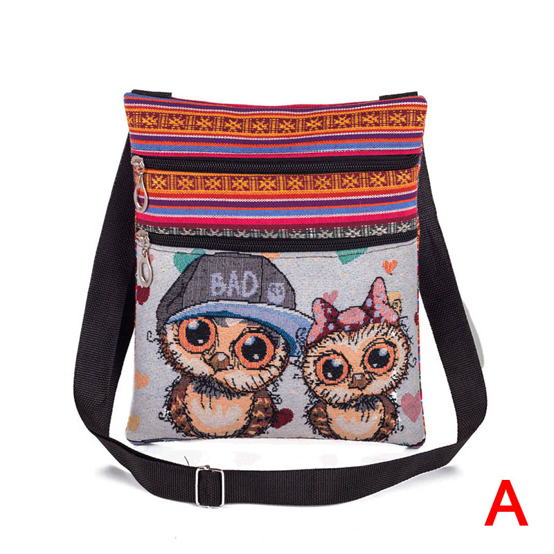 Women Lady Shoulder Bag Messenger Owl Embroidered Vintage For Mobile Phone Money Best Sale-WTWomen Lady Shoulder Bag Messenger Owl Embroidered Vintage For Mobile Phone Money Best Sale-WT