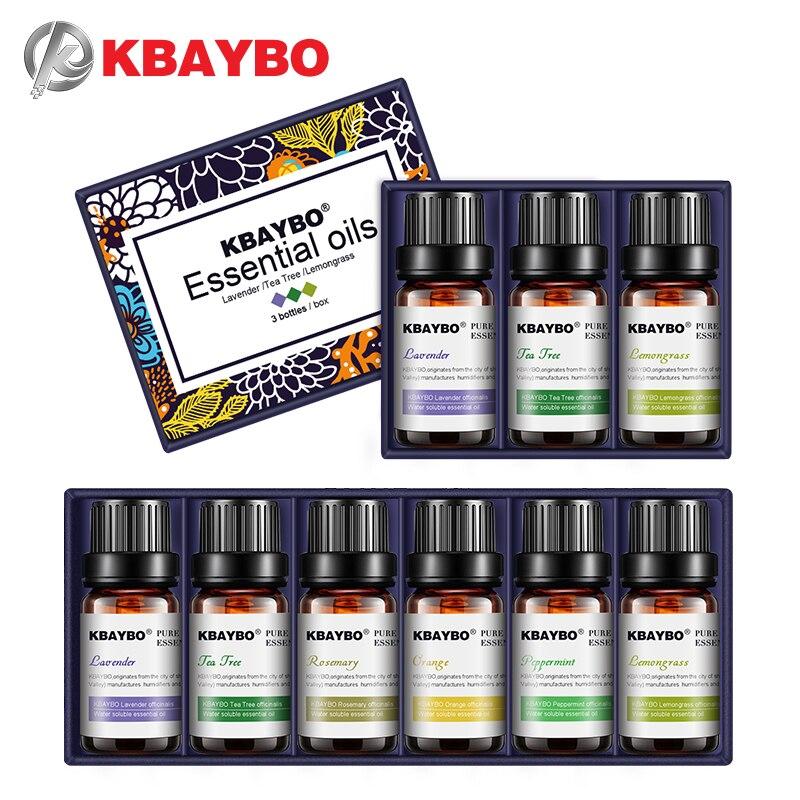 KBAYBO diffusori di oli essenziali per aromaterapia lavanda tea tree citronella tea tree rosmarino olio di Arancio