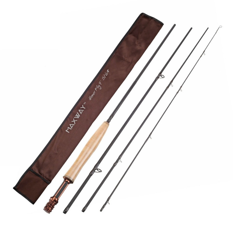 SeaKnight MAXWAY 2.7m fly fishing rod 5/6# high carbon traveller fly fishing rod river travel saltwater Super Light 4 section удочка good fishing nepalese tdg021 4 5 5 4