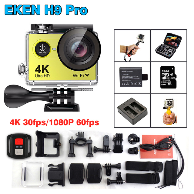 New Arrival!Original Eken H9 Pro 4K/30fps Action Camera 30m waterproof 2.0' Screen 1080p 120fps 170D sport Camera Extreme Camera