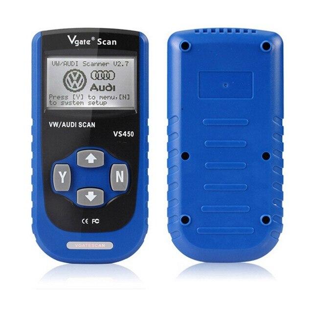 Hot sale VS450 VAG OBD 2 OBDII Code Reader Diagnostic Tool Reset Airbag ABS For Au+di VW Volk swagen