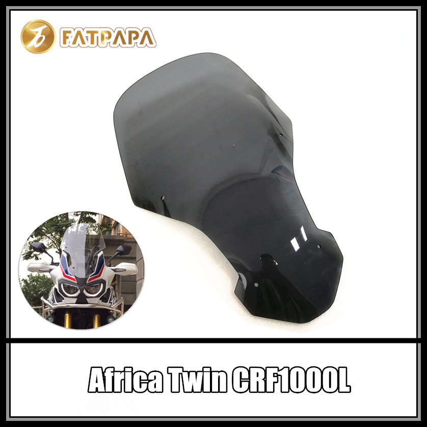 CRF1000 L Motorcycle Accessories Windshield Black and Transparent FOR Honda CRF1000L Africa Twin чехол для чемодана м l fancy armor travel accessories africa m l africa ml