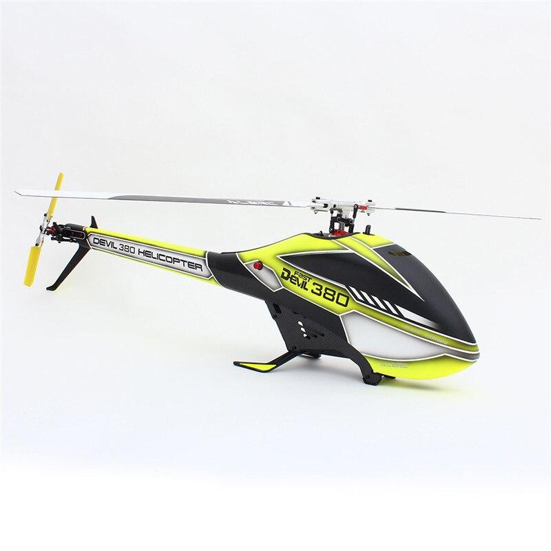 ALZRC Devil 380 FAST FBL 6CH 3D Красный/Желтый Летающий Радиоуправляемый вертолет, набор, игрушки для детей, подарки для детей 55x20x13 см - 4