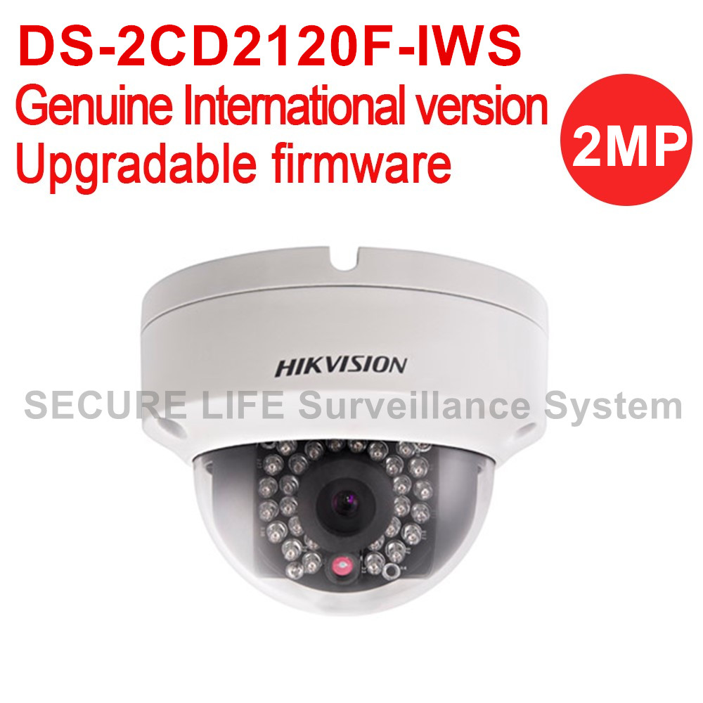 Hikvision DS-2CD2120F-IWS English version 2MP Fixed Dome security cctv wifi Camera POE, audio IR IP66, IK10, sd card recording in stock ds 2cd2f42fwd iws english version 4mp wdr mini pt network cctv ip camera wifi poe sd card recording audio alarm
