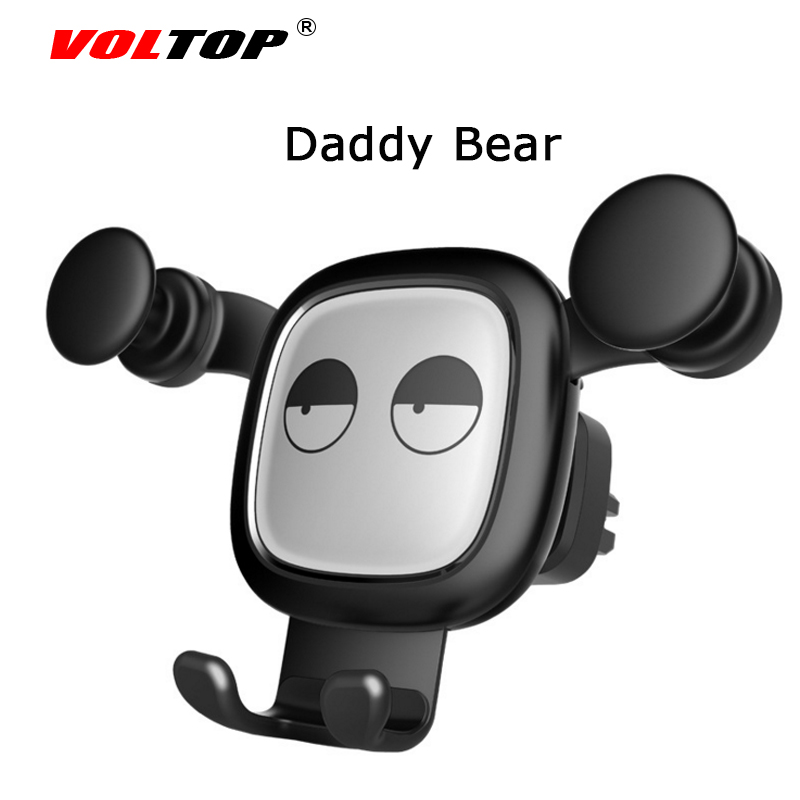 VOLTOP Bear Car Accessories Air Conditioner Outlet Gravity Phone Holder Ornament Car Interior Supplies Mobile Phone Support in Ornaments from Automobiles Motorcycles