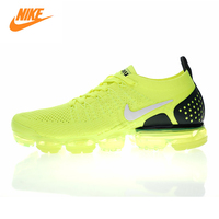 Nike Air VaporMax Flyknit 2.0 W Men's and Women's Running Shoes, Yellow, Shock Absorbing Breathable Wear resistant 942842 701