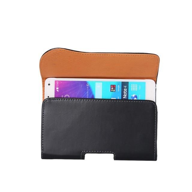 Svart läderfodral Bältesklämma för iPhone 6 5s Samsung Galaxy S6 - Reservdelar och tillbehör för mobiltelefoner - Foto 4