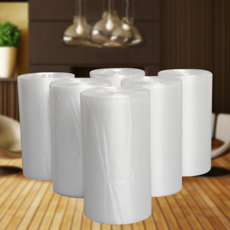 1 Roll Simple Practical Disposable White Transparent Garbage Bag 50pcs Home Cleaning Tools Trash Bags