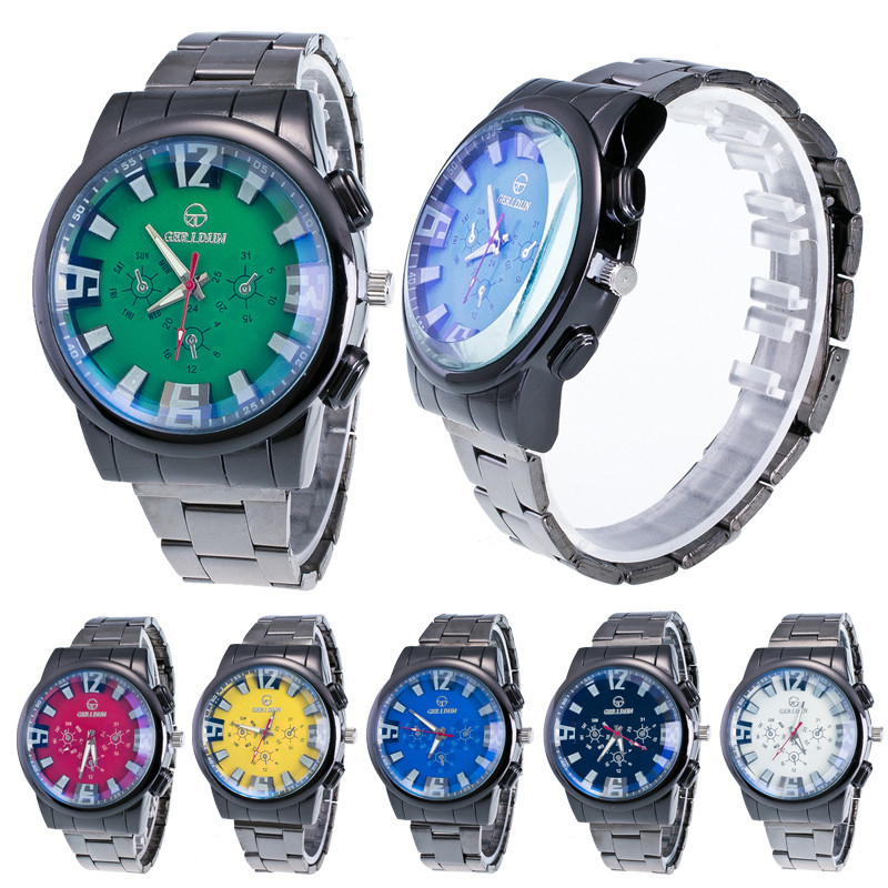 New fashion watches Men Motion Form mens watches stainless steel band Sport Quartz Hour Wrist Analog