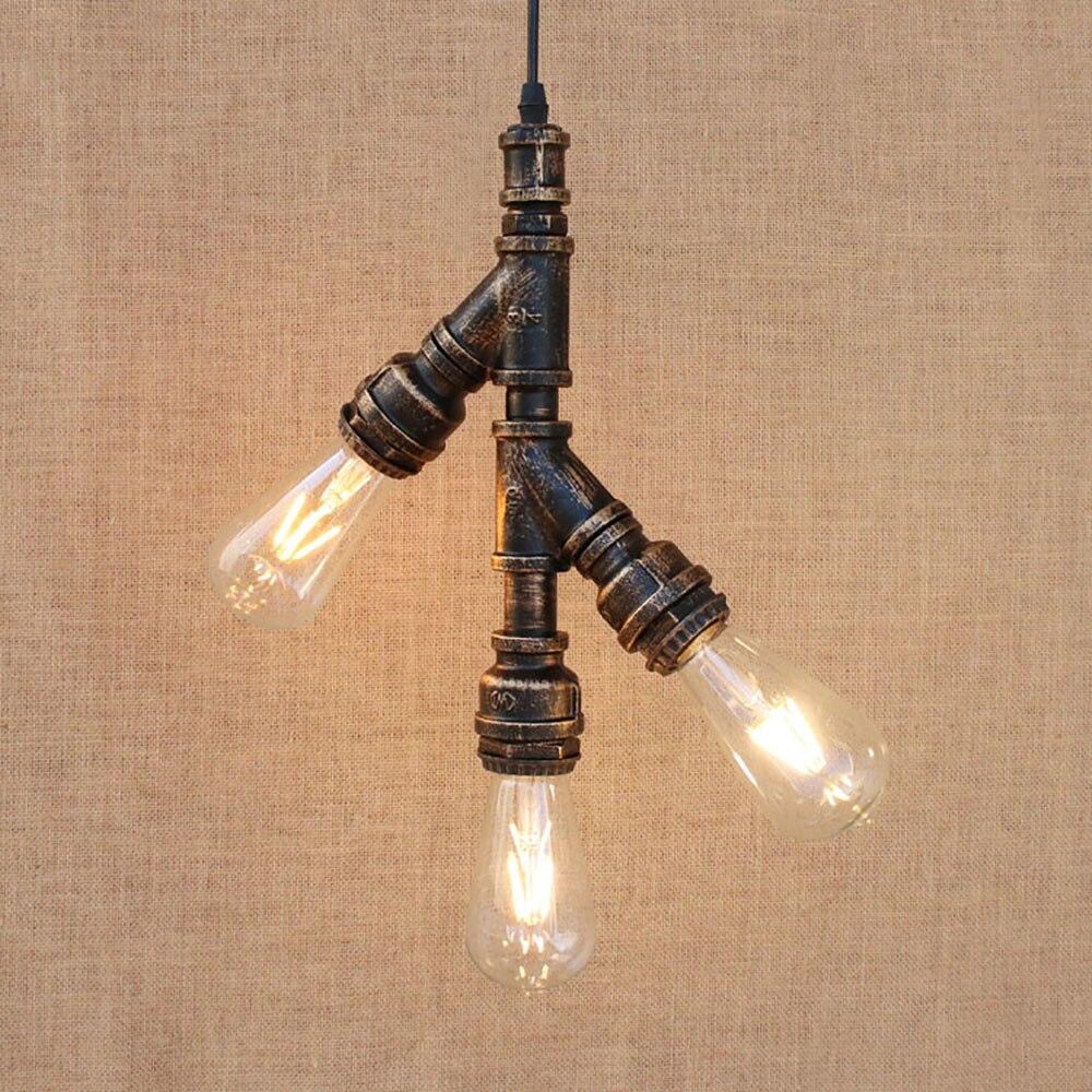 3/4 licht Retro Vintage Loft industria ijzeren waterleiding hanger ...