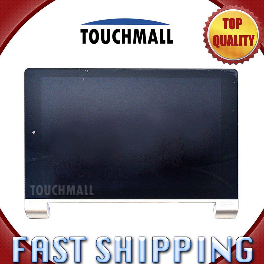 ФОТО For Lenovo Yoga 10 B8080 B8080-F B8080-H Replacement New LCD Display Touch Screen with White Gold Frame Assembly Free Shipping