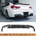 Diffuseur en fibre de carbone F12 | Pour BMW F06 F12 F13 M-Sport pare-choc arrière diffuseur de lèvres 640i 640i xDrive 650i 2012-2016