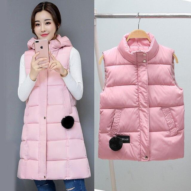 TUYẾT ĐỈNH CAO năm 2018 mùa đông Áo vest nữ Mùa Thu Ấm làm dày Không Tay áo khoác Nữ Cotton Đệm áo parkas M-3XL