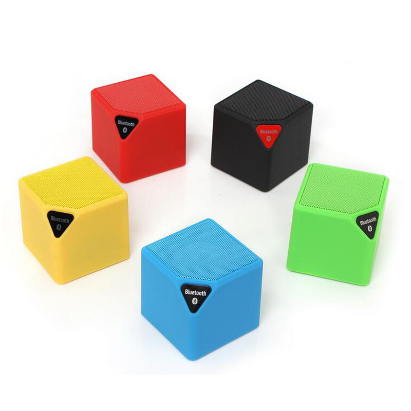 Wireless Mini Portable Small Square Bluetooth Speaker Built-in LED Lights MIC Active Subwoofer Bluetooth Sound Card USB Speaker
