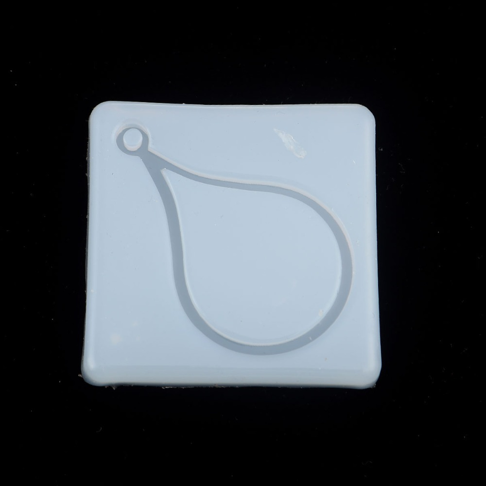 Doreen Box Silicone Resin Mold For Jewelry Fashion Necklace Making Square White Drop Tools 57mm(2 2/8