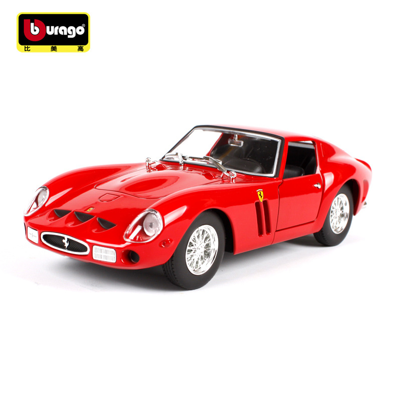 Die-cast Metal Vehicles 1:24 Car Models Coche Mkd3 Scale Simulation Auto Toys For Children 250 GTO Lafarrari Sports Car