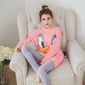 Autumn & Spring Duck Women Pajama Sets Cotton M-3XL Long Sleeve Cute Warm Women'S Sleep & Lounge Plus Size Loose Female Suit