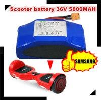 Е байка 36В 5.8AH 5800 мА/ч, SAMSUNG INR18650 29E динамический литий ионный Батарея пакет для двухколесные электрические скутеры
