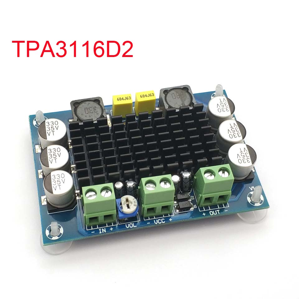 XH-M542 DC 12-26V 100W TPA3116DA Mono Channel Digital Power Audio Amplifier TPA3116D2 Board