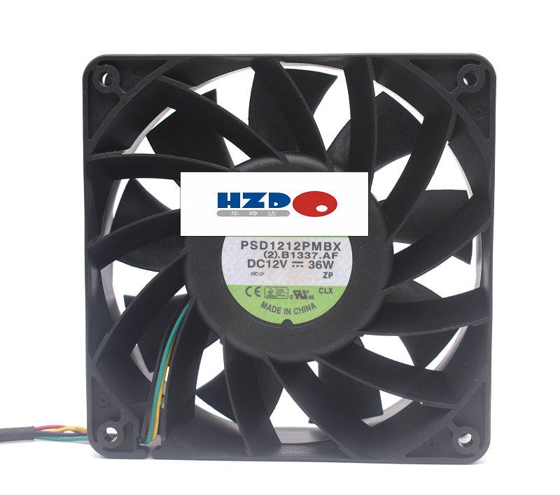 Купить с кэшбэком HZDO PSD1212PMB1-A 12v 12.54w 24w 23.76w cooling fan 120*120*38MM PSD1212PMBX 36W