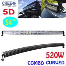 54″Inch 5D 520W Cree Chips Super-long Bar-type Curved Car Lights Combo LED Work Light Bar Trailer Off-road Driving Lamp External