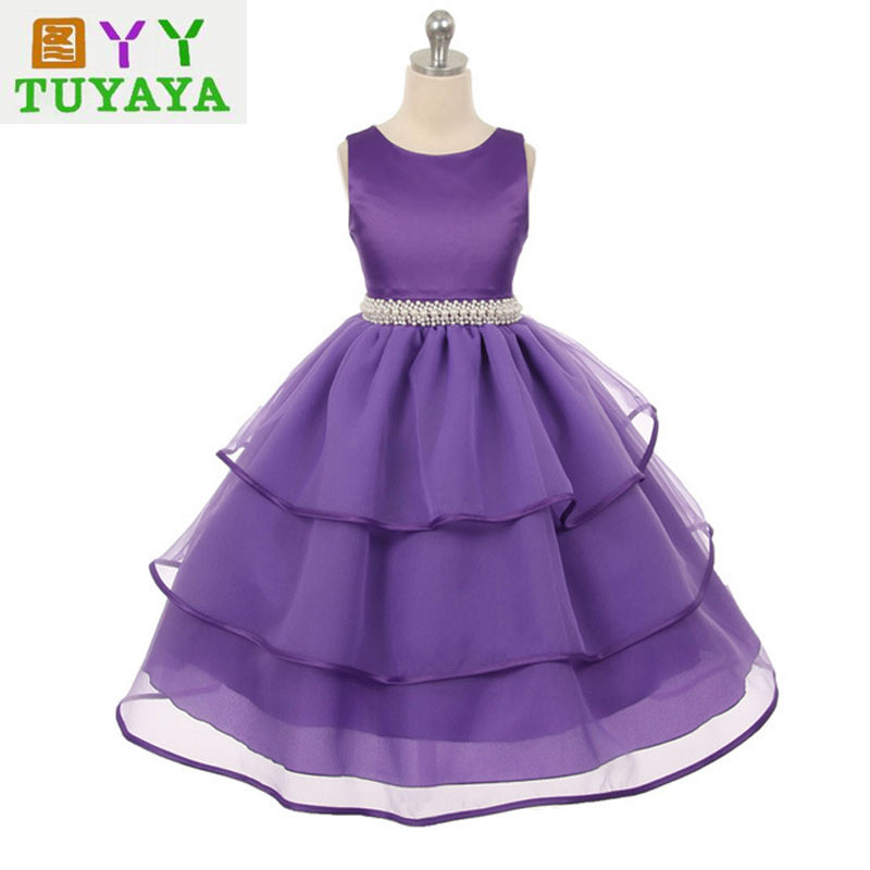 Formal Children Ball Gown Dress for Girls Dresses 2017 New Princess Party Tutu Dress Kids Teenagers Dresses Baby Girl Costume new arrival hot sale toddler princess girls sleeveless ball gown costume latin show fashion formal dancing dress