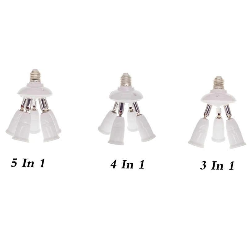 1 до 3/4/5 свет регулируемый преобразователи держатель E27 к E27 разъем Разделение тер светодиодное освещение, лампа Разделение адаптер держатели ламп Base