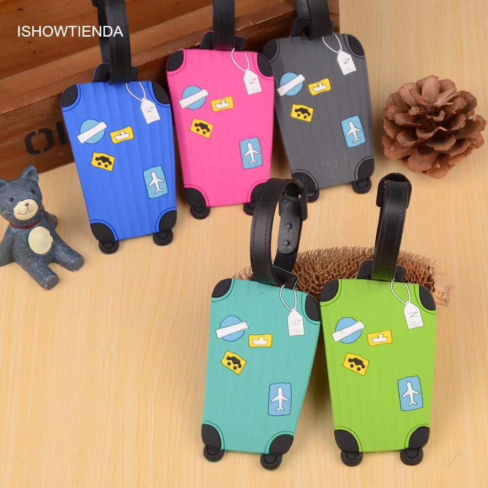 2 Pack Luggage Tags Hippos Baggage Tag For Travel Bag Suitcase Accessories
