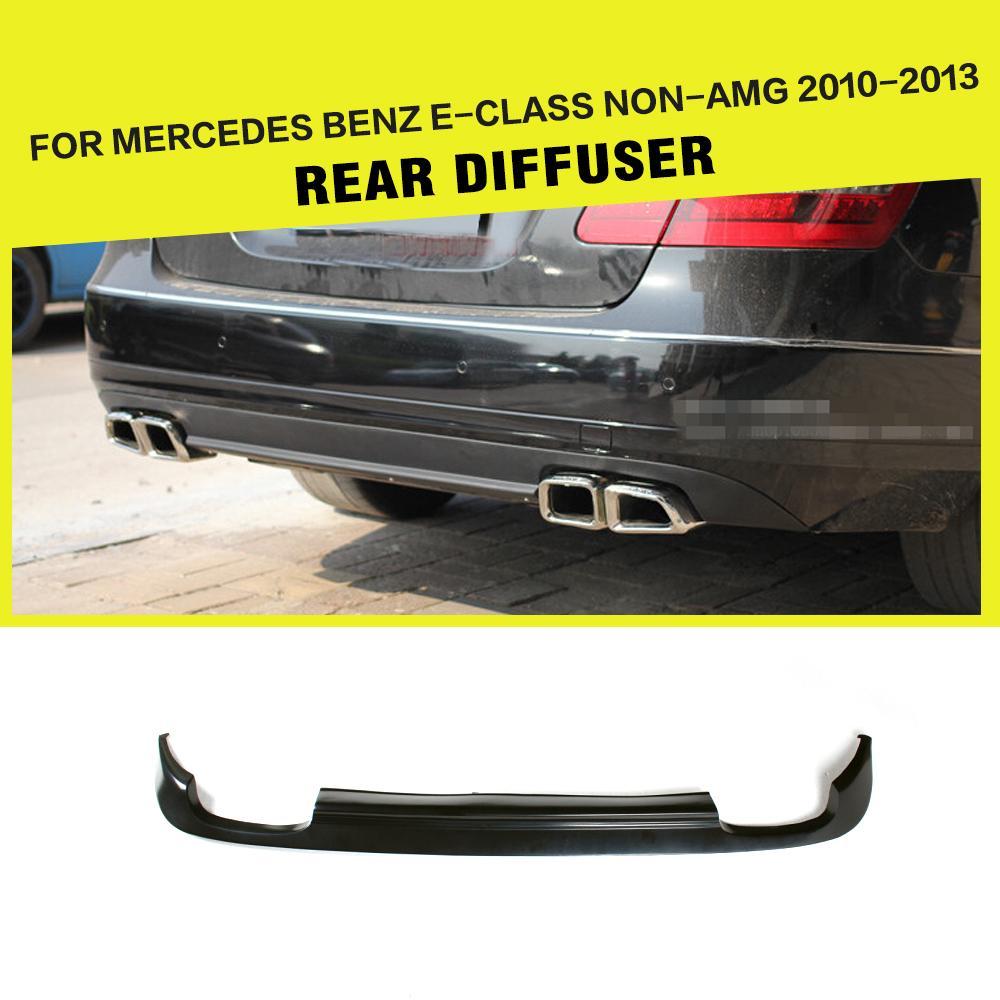 Car-Styling PU Black Rear Diffuser Lip for Benz E-class W212 E350 E550 E300 Standard Bumper 2010 - 2013Car-Styling PU Black Rear Diffuser Lip for Benz E-class W212 E350 E550 E300 Standard Bumper 2010 - 2013