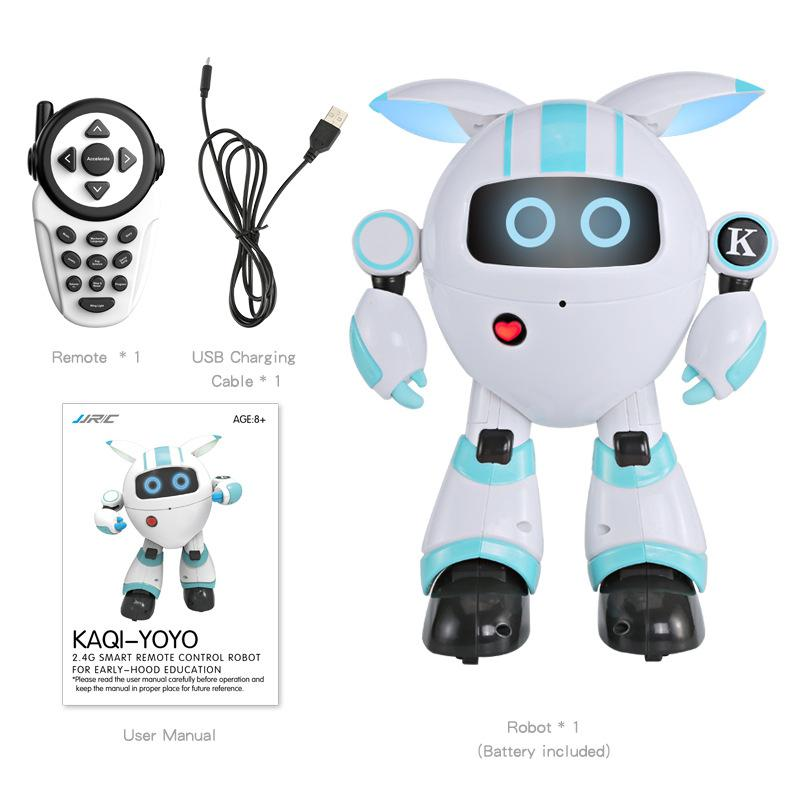 TPFOCUS Robot intelligent RC Programmable chanter raconter histoire danse enregistrement jouet lumineux brillant pour les enfants