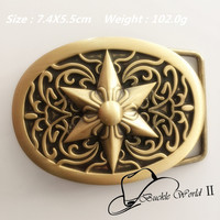 Retail New Style Solid Brass Fashion Belt Buckle For Men Women Jeans Accessories For 4cm Wide