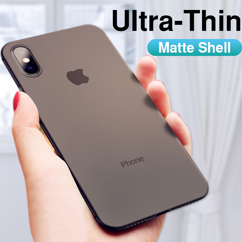 0.26mm Ultra Thin Original PP Case On The For Iphone X XR XS Max Full Cover For Iphone 6 6s 7 8 PLus Matte Shockproof Slim Case