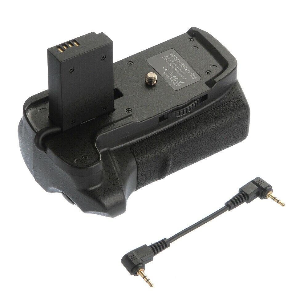 Prise de batterie verticale Pro pour Canon EOS 200D rebelle SL2 support de caméra 2 batteries