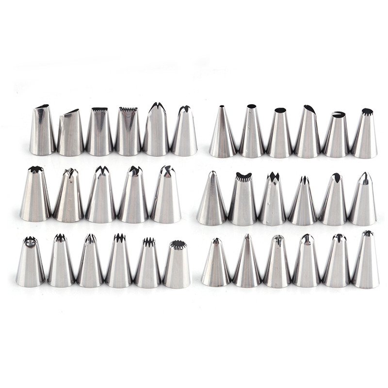 35PCS Stainless Steel Icing Piping Nozzles Cake Decorating Pastry Tips Set in Decorating Tip Sets from Home Garden