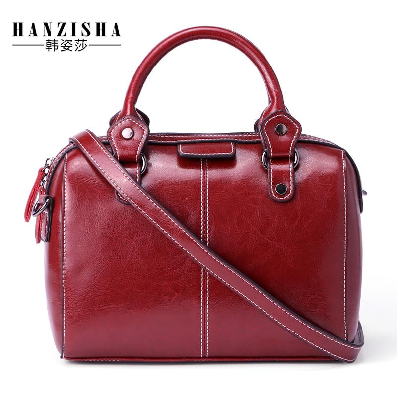 2018 New Fashion Echtes Leder Frauen Handtaschen Mode Soild Leder - Handtaschen
