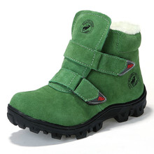 2017 New Fashion Children Warm Boots Boys Girls Cotton Running Boots Non-slip Plush Snow Shoes Hook & Loop Outdoor Shprts Shoes
