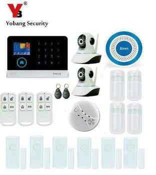 Yobang Sicherheit-Smart Android + IOS APP Hause Erhalten Alarmas 433 Mhz Wireless Home Security Alarmanlage Ip-kamera Sistema De Alarma GSM