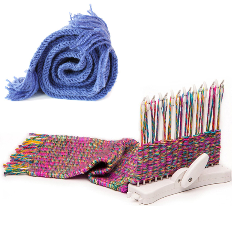 Knitting Loom Kit : Scarf knitting machine loom knit hobby tool kits
