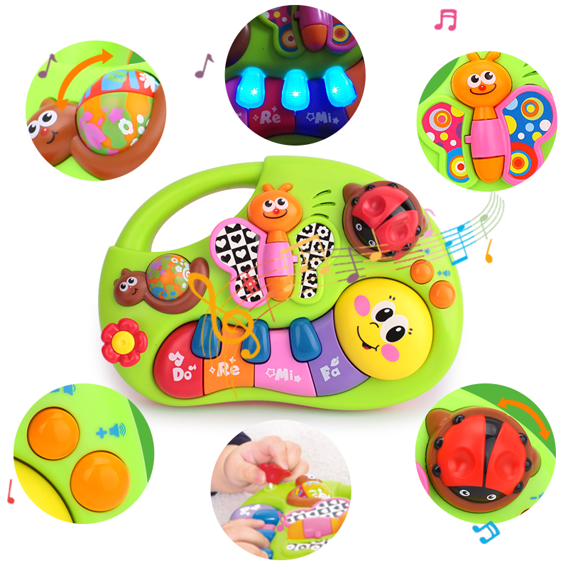 HOLA 927 Baby Toys Learning Machine Toy with Lights & Music & Learning Stories Toy Musical Instrument for Toddler 6 month+-in Toy Musical Instrument from Toys & Hobbies