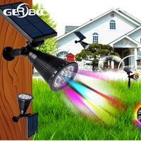 7 LED Spotlight Outdoor Solar Panel Power Adjustable Flood Lights Garden Yard Lawn Wall Lamp Waterproof